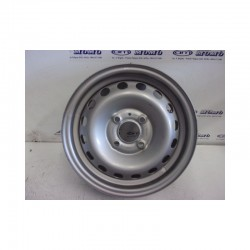 Cerchio in ferro 5.0J x 13H2 ET36 Renault Clio 4fori colore grigio Nuovo - Cerchi in ferro - 1