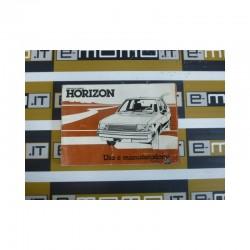 Libretto uso e manutenzione cod. 570790 Chrysler Simca Horizon 1997 - 1985 - Libretto uso e manutenzione - 1