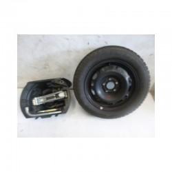 Kit ruota di scorta 6Q0012115F 6JX14H2ET48ES Volkswagen Polo 9N Gomma Dunlop 185/60 R14 82T 5 Fori - Ruota di scorta - 1